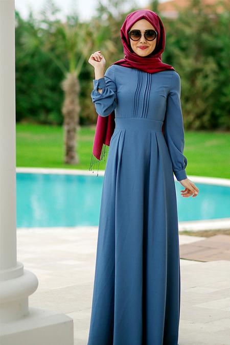 Minel Aşk İndigo Marina Elbise