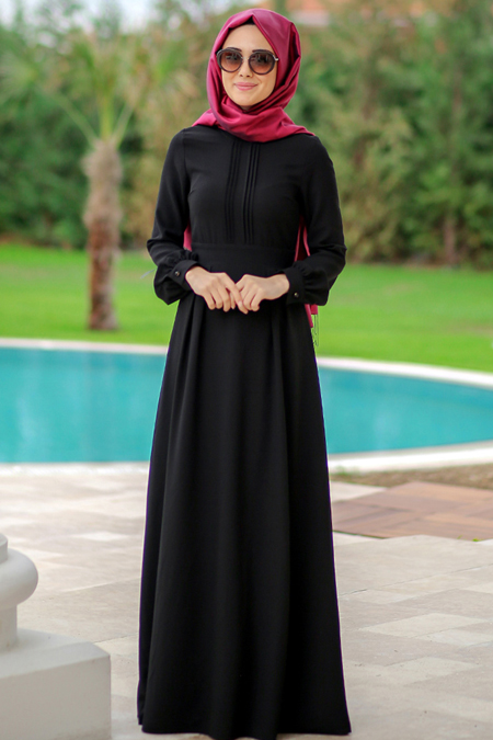 Minel Aşk Siyah Marina Elbise