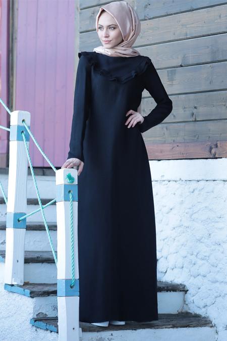 Minel Aşk Siyah Rocco Elbise