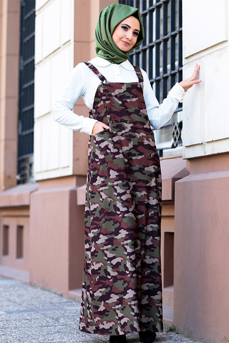 Puqqa Yeşil Bella Elbise