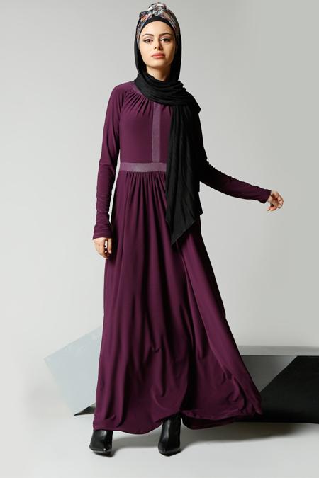 Refka Mürdüm Garnili Elbise