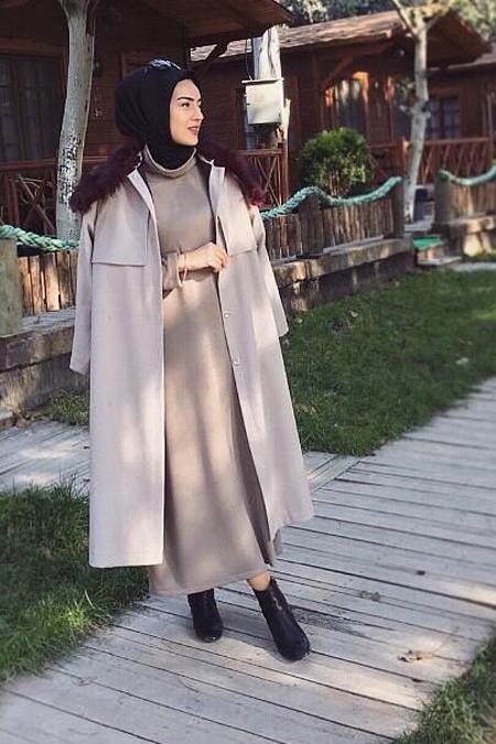 BRTCdesign Boğazlı Triko Elbise