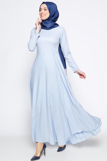Bislife Bebe Mavisi Kloş Etekli Elbise