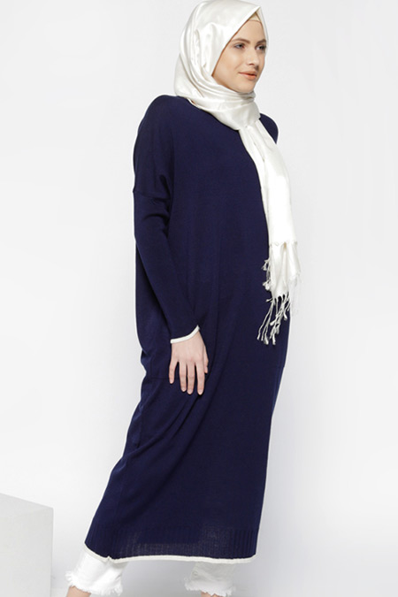 Everyday Basic Lacivert Cepli Triko Tunik