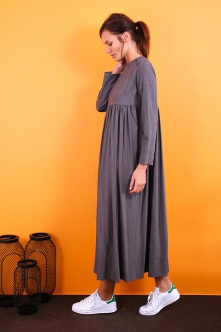 Kevsersarioglu Arkası Düğmeli Robalı Spor Elbise
