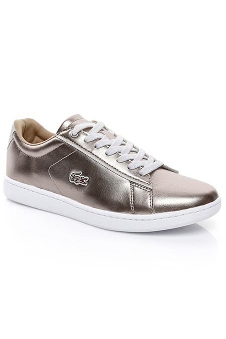 Lacoste Carnaby Evo Kadın Gri Sneaker Ayakkabı