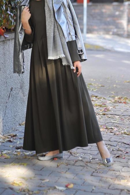 Lavinia Couture Haki Yeşili Elbise
