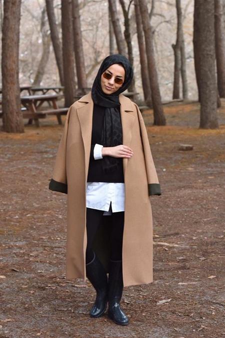 Lavinia Couture Oversize Camel Kaban