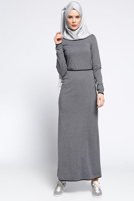 Meryem Acar Füme Biye Detaylı Elbise