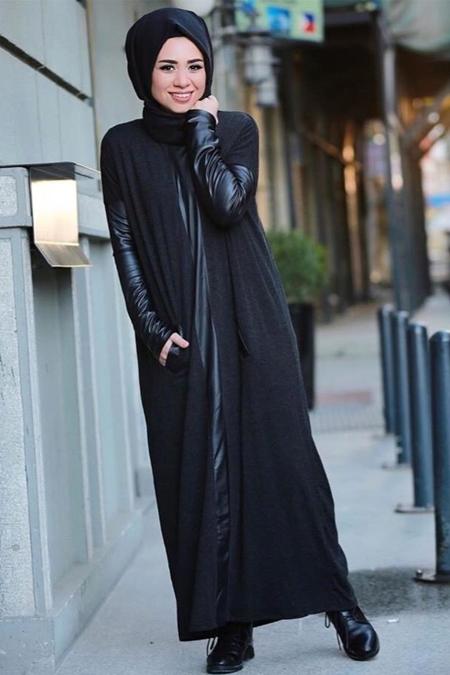 Missemramiss Siyah Deri Elbise