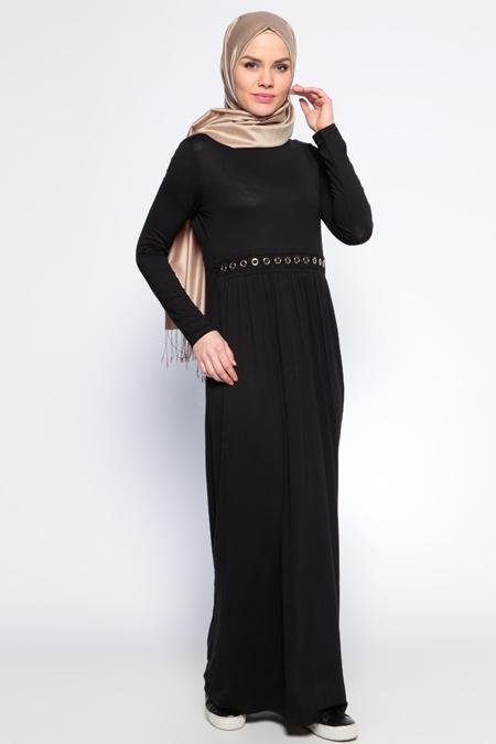 Moonlight Siyah Dantel Detaylı Elbise