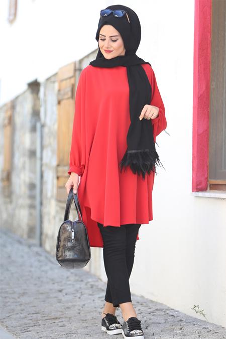 Seda Tiryaki Kırmızı Burcu Tunik