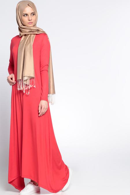 Everyday Basic Kırmızı Salaş Elbise