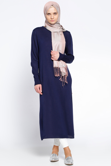 Everyday Basic Lacivert Triko Tunik