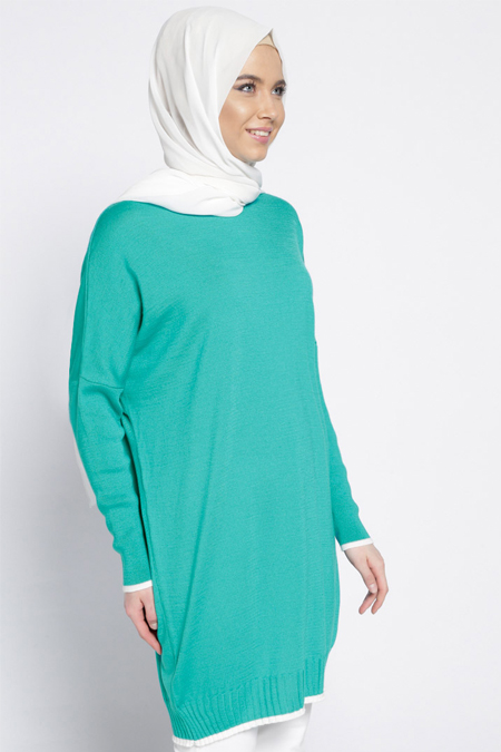 Everyday Basic Mint Triko Tunik