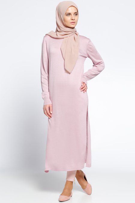 Everyday Basic Pembe Triko Tunik