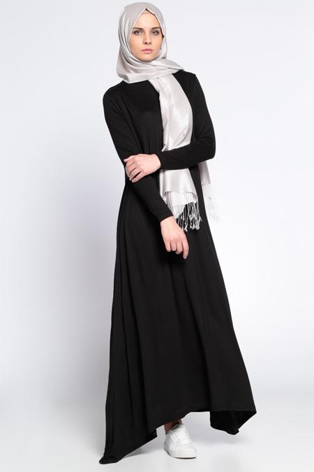 Everyday Basic Siyah Salaş Elbise