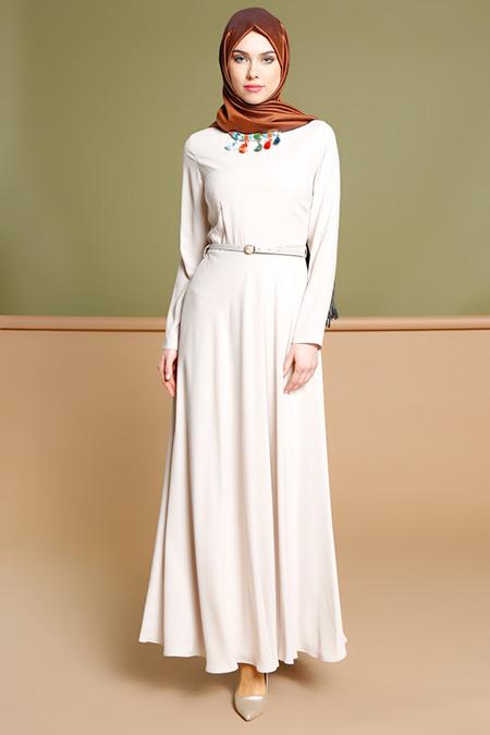 Puane Taş Kolyeli Elbise