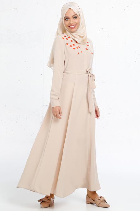 Refka Bej Nakış İşlemeli Elbise