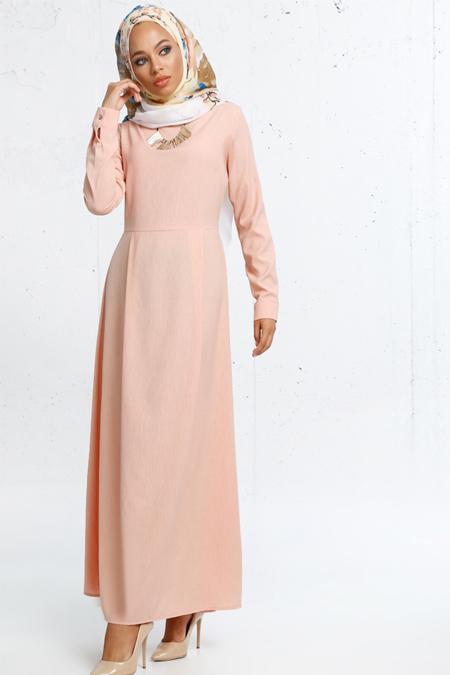 Refka Somon Kolyeli Elbise
