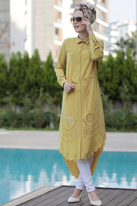 Selma Sarı Design Hardal Hayal Tunik