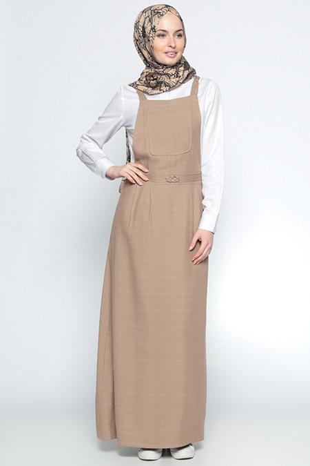 Tuğba Vizon Salopet Elbise