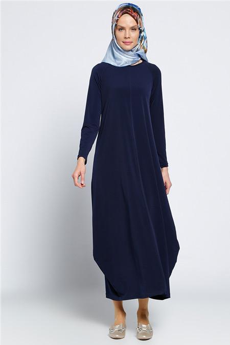 Vitrinsbutik Lacivert Salaş Elbise