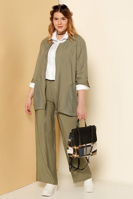 Alia Haki Klasik Pantolon