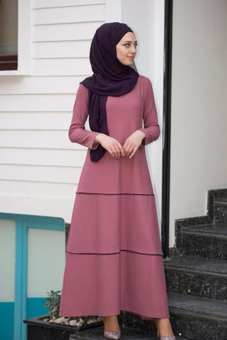 Butik Minya Biyeli Basic Elbise