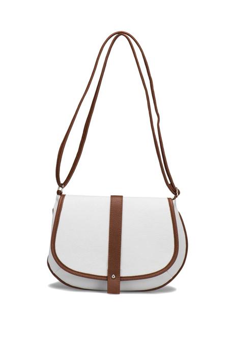 Flo Beyaz Kadın Crossbody Çanta