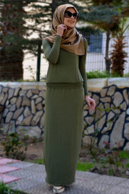 Henna Elısa Haki Ahsen Elbise
