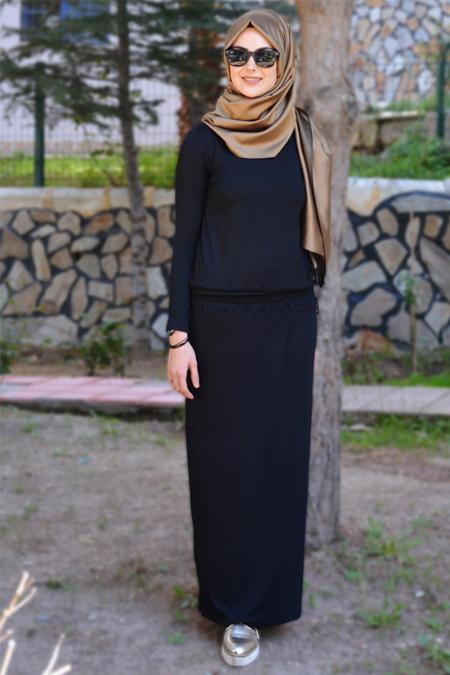 Henna Elısa Siyah Ahsen Elbise