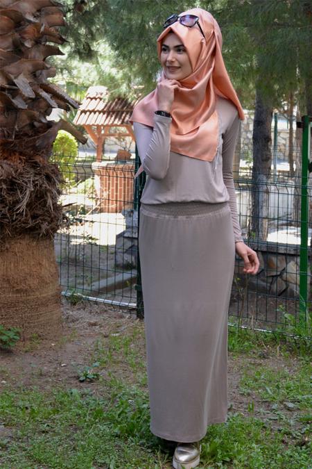 Henna Elısa Vizon Ahsen Elbise