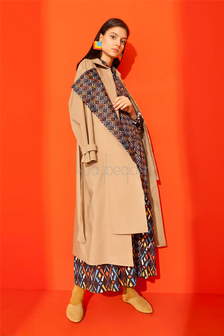 Kuaybe Gider Camel Dignita Long Trench