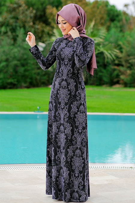 Minel Aşk Siyah Örme Elbise