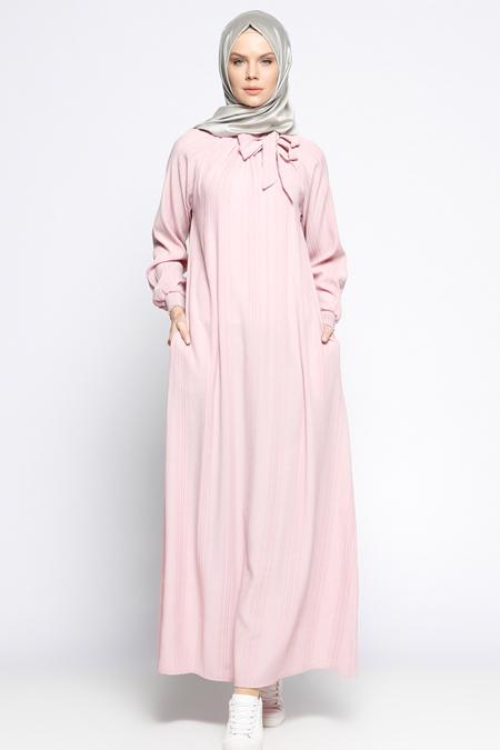 ModaNaz Eflatun Gipeli Elbise