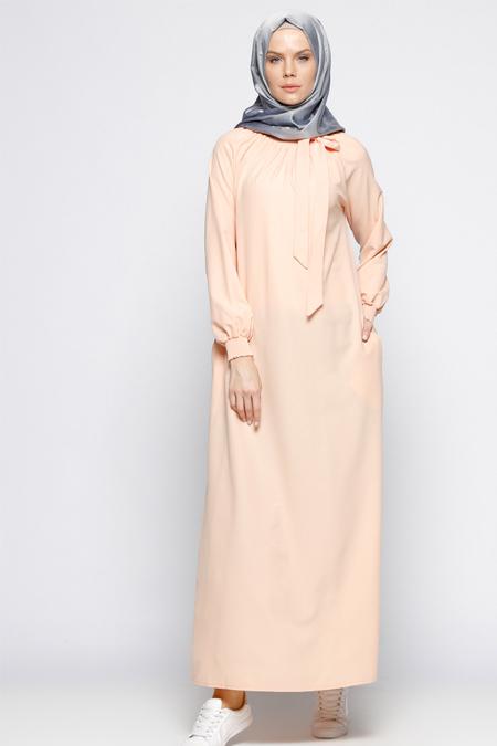 ModaNaz Somon Gipeli Elbise
