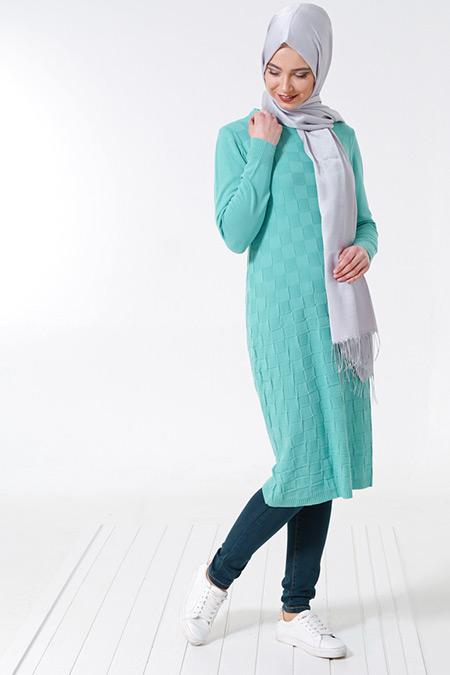 Seyhan Fashion Mint Triko Tunik