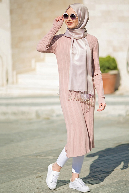 Seyhan Fashion Pudra Triko Tunik