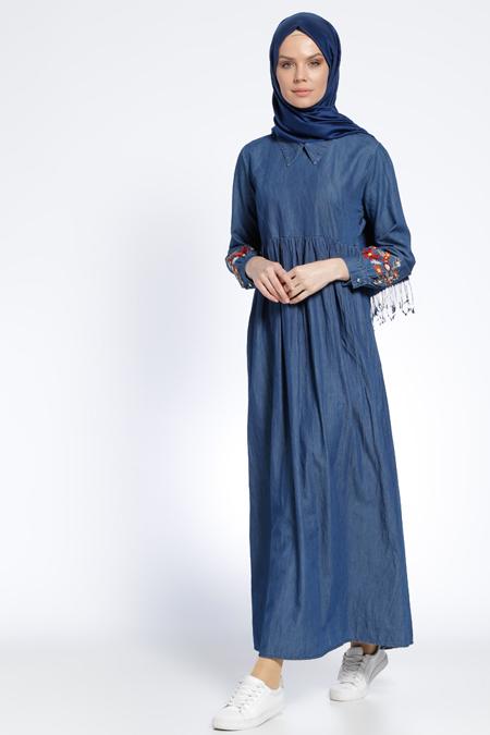 Tuncay Lacivert Kot Elbise