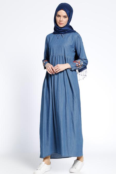 Tuncay Mavi Kot Elbise