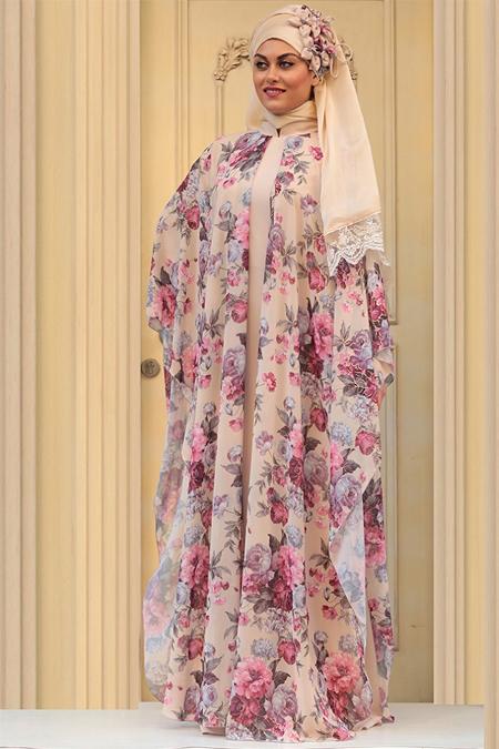 Zehrace Fuşya Fulya Abiye Elbise