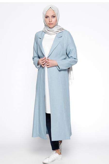 Bislife Mavi Şal Yaka Ceket