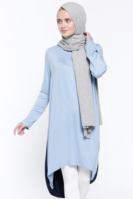Everyday Basic Lacivert Mavi Garnili Tunik