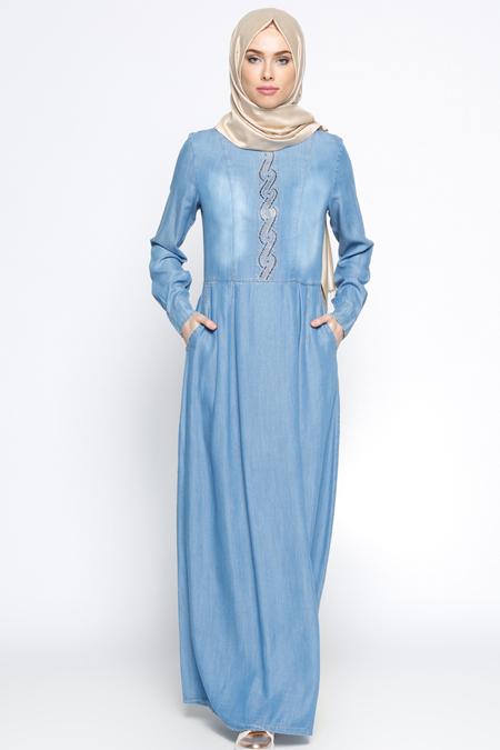 Ginezza Mavi Kot Elbise