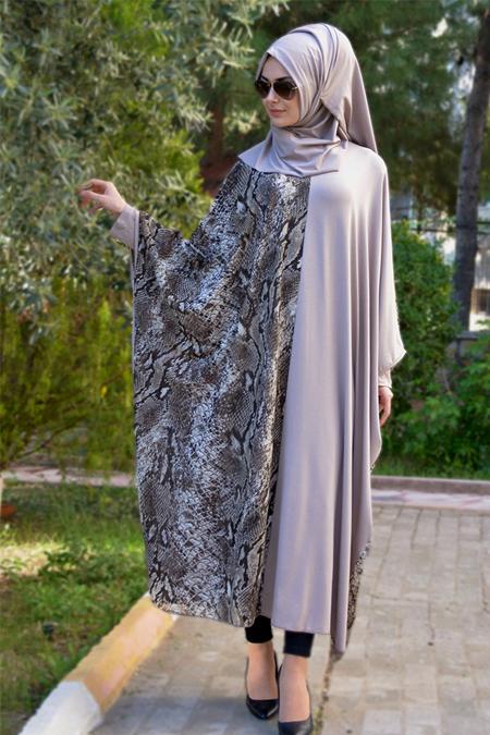Henna Elısa Vizon Ferace Elbise