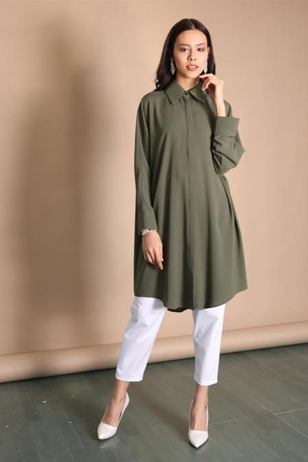 Kadriye Basturk Oversize Yazlık Gömlek