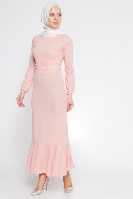 LOREEN Somon İncili Elbise