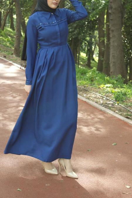 MODAMİM İşlemeli Elbise
