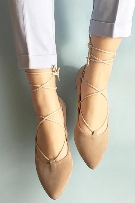 Mostra Shoes Balerina Süet Babet